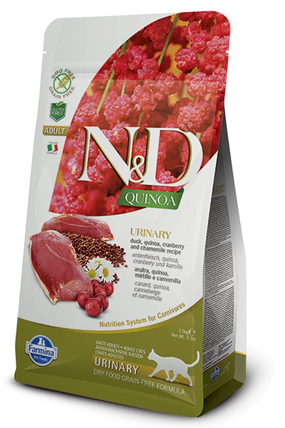 N&D Adult Urinary Viljaton ankka-kvinoa-karpalo 300g