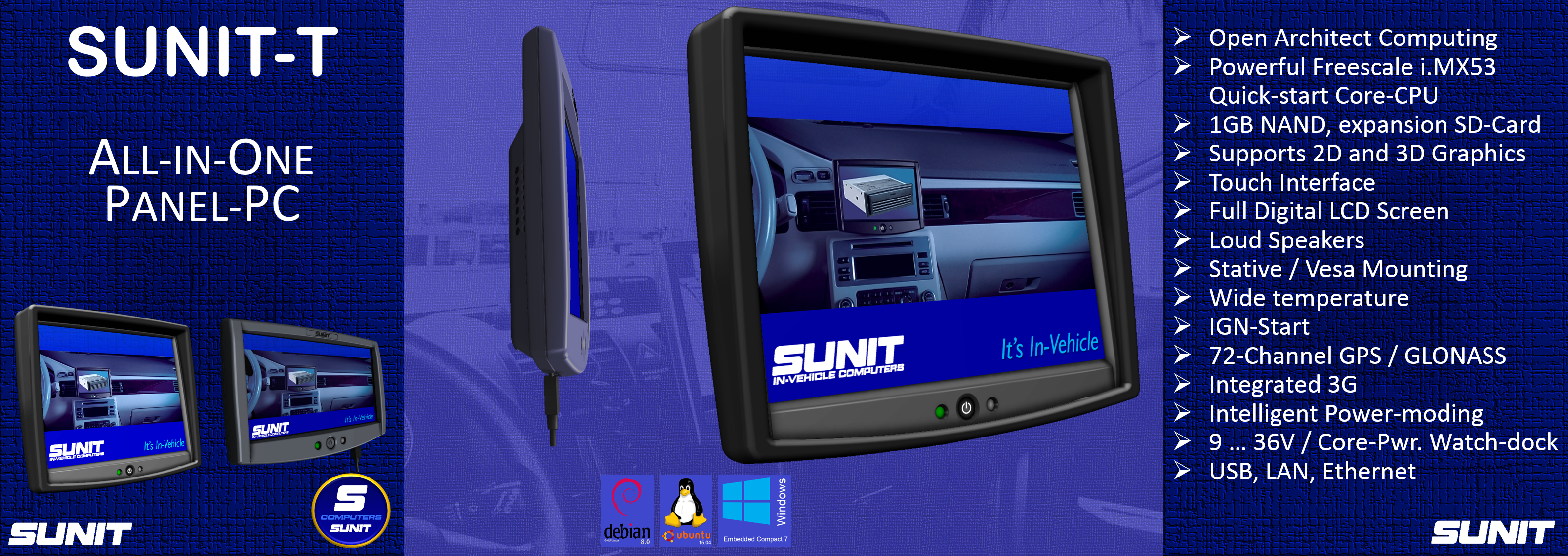 SUNIT-Tall-in-One Panel-PC for Industry and Fleet Management
