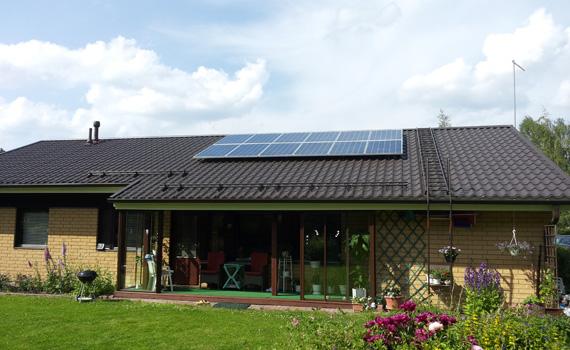 Aurinkopaneelit Omakotitaloon Hinta