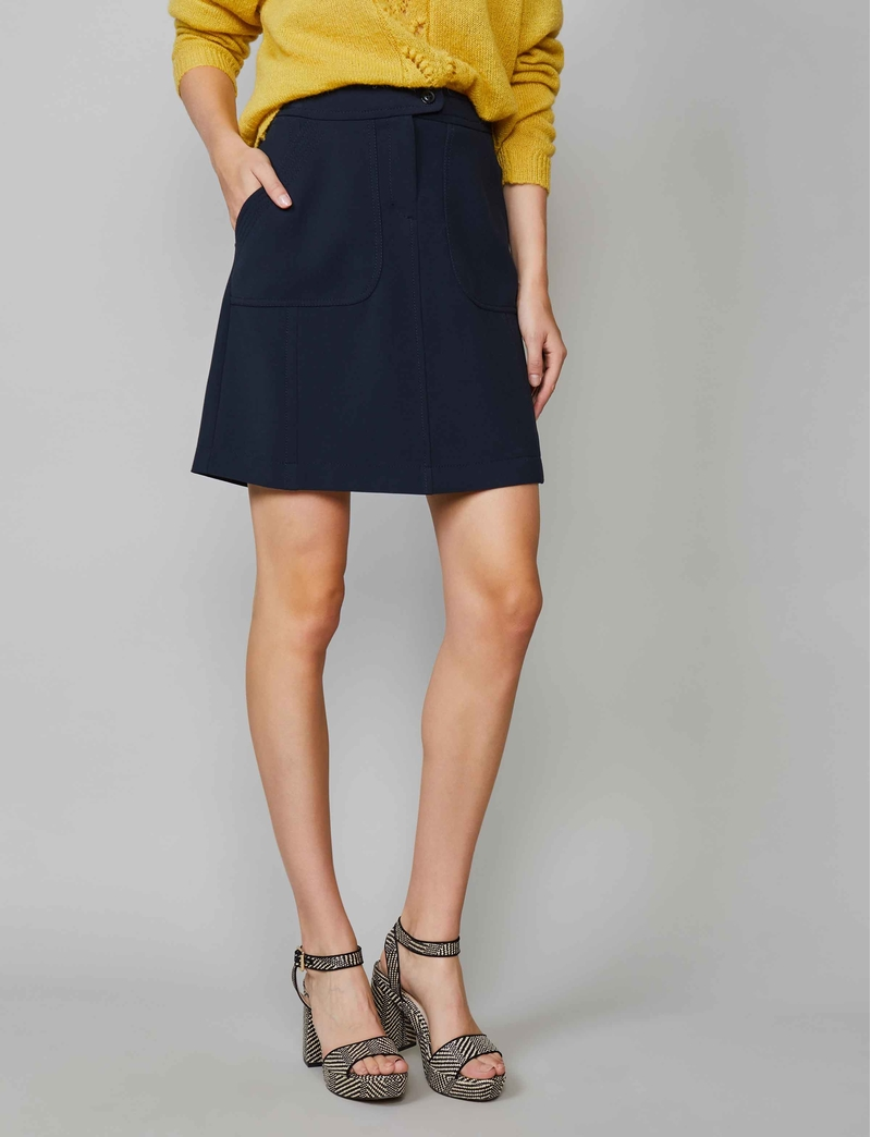 Summum Woman Skirt Structured Stretch - Night Blue
