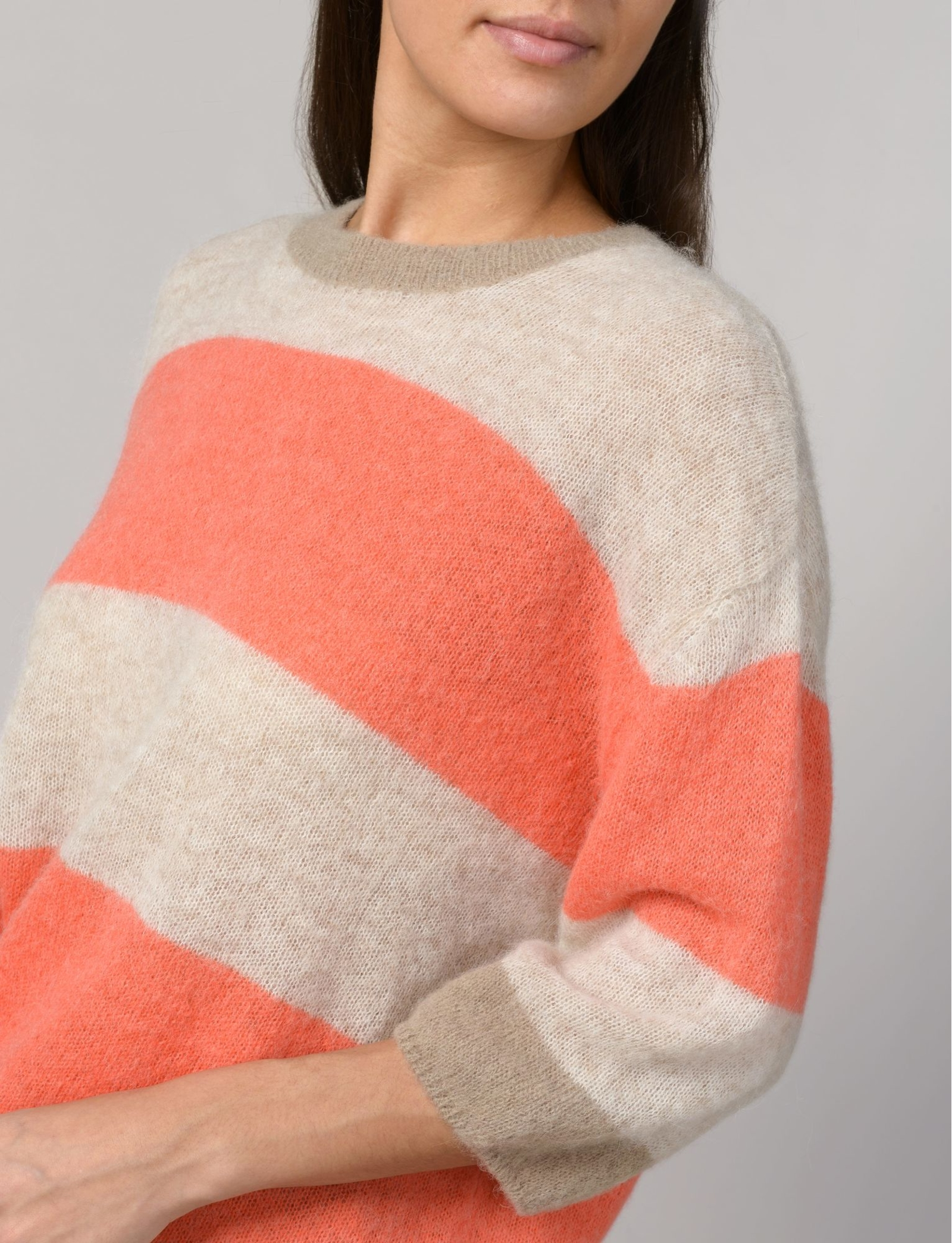 Summum Woman Pullover Superfine Alpaca Knit Multicolour