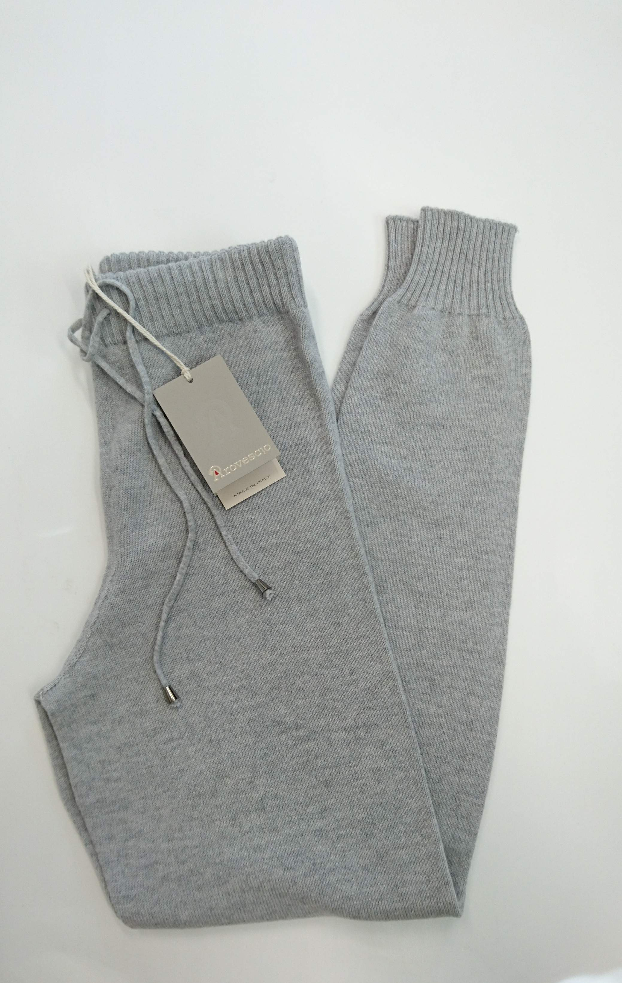 ALE - AROVESCIO Knitted Pants Light Grey