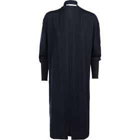 Summum Woman Cardigan Oversized Luxurious Wool Mix, Night Blue