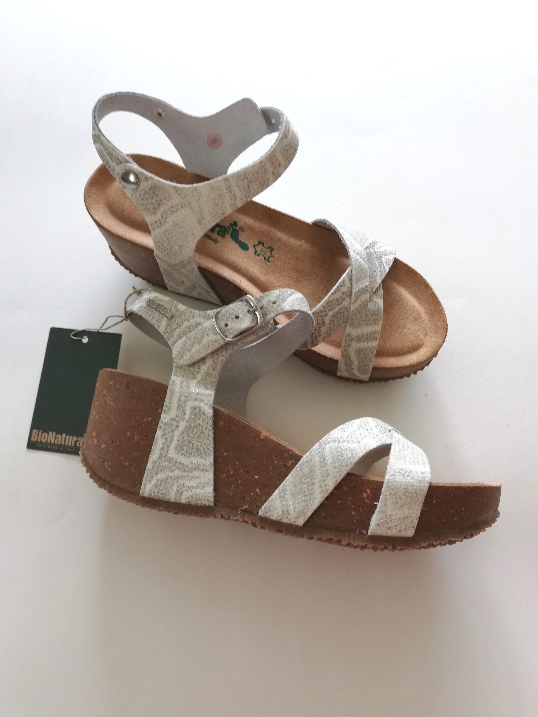 BioNatura Sandal Wedge White