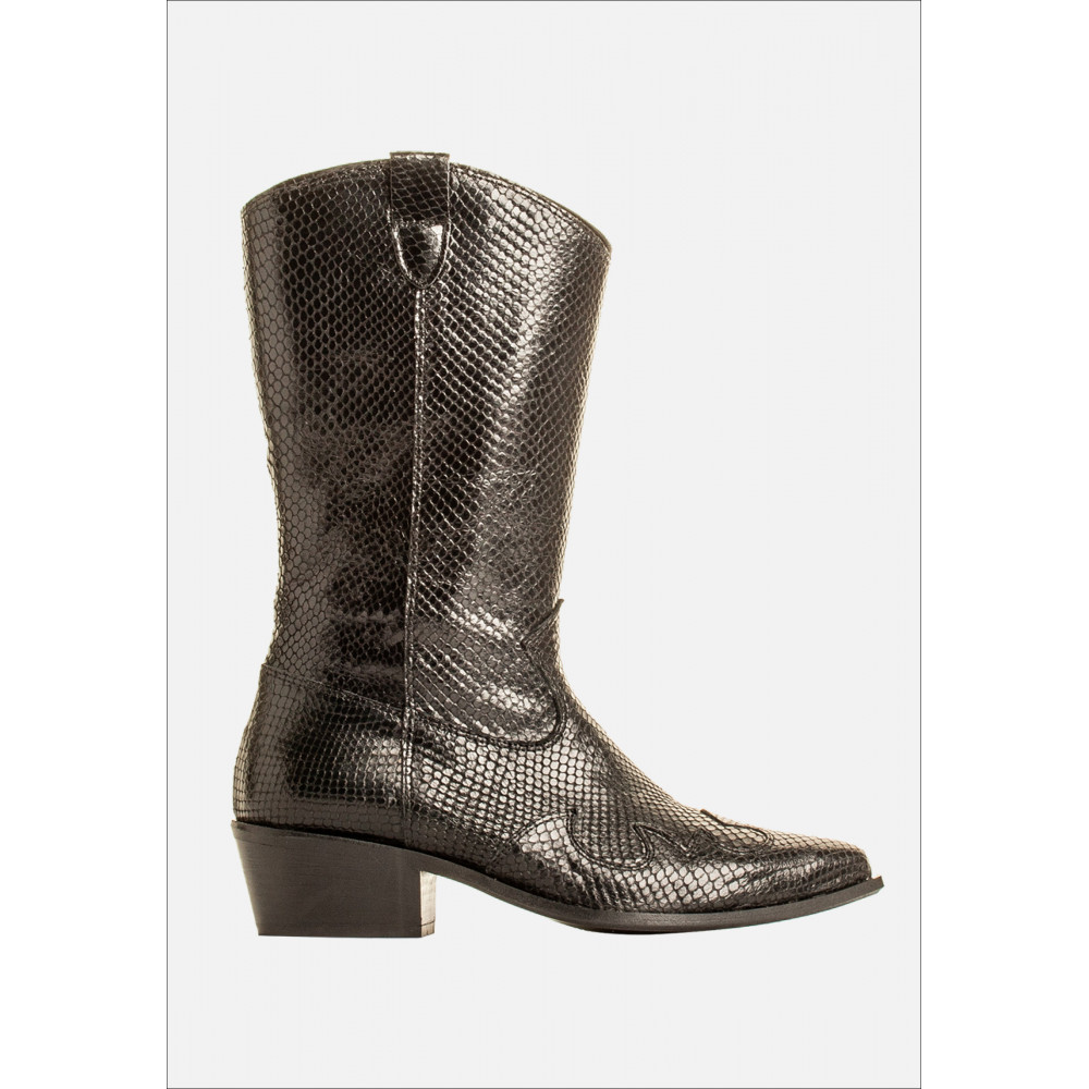 BUKELA Boots Snake higher, Black