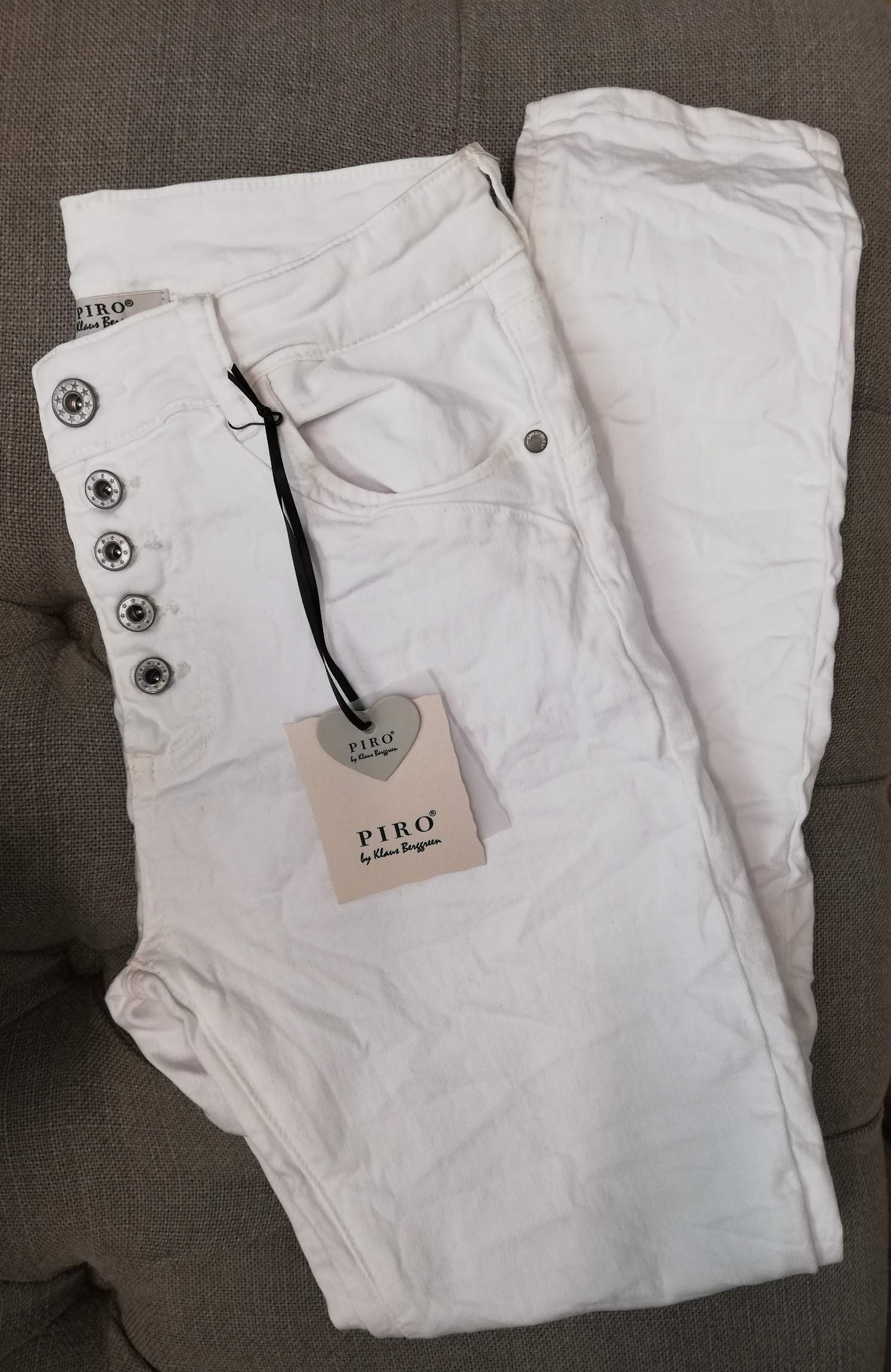 PIRO Jeans BP101-01 White