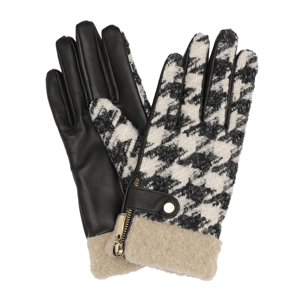 DAY ET - Day Glove Tweed Teddy Cuff Black