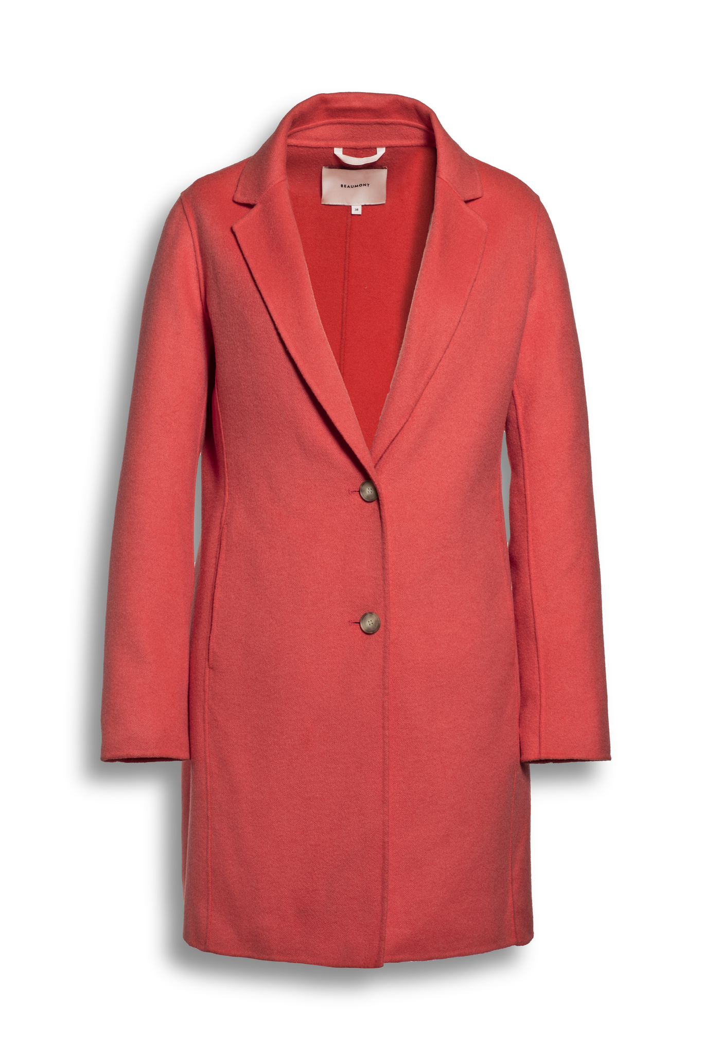 BEAUMONT Short Summer Wool Blazercoat Coral