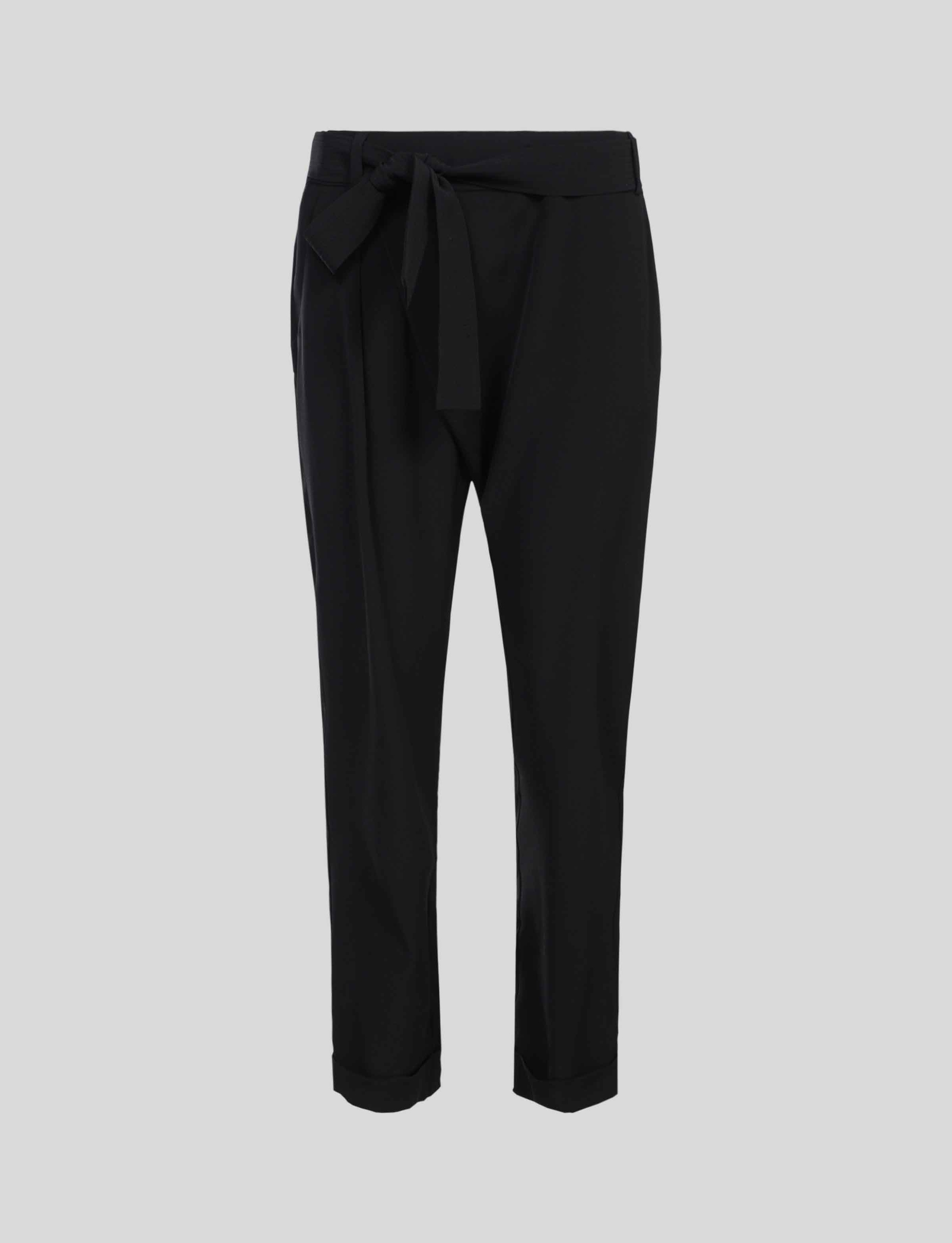 Summum Studio Trousers Crepe Viscose Blend - Black