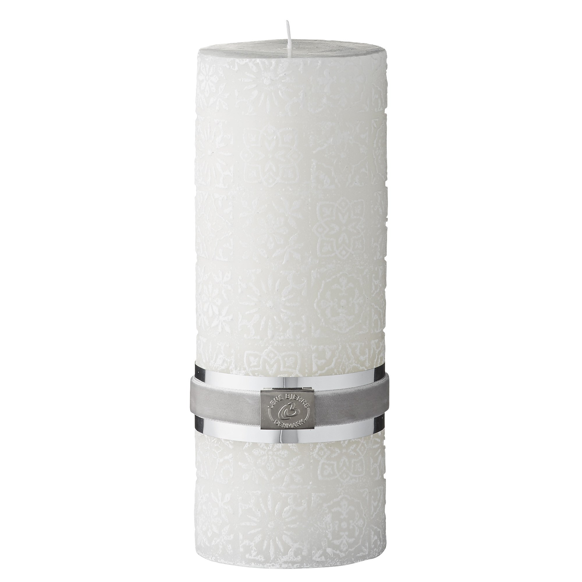 LENE BJERRE - Tile White Pillar Candle 20cm