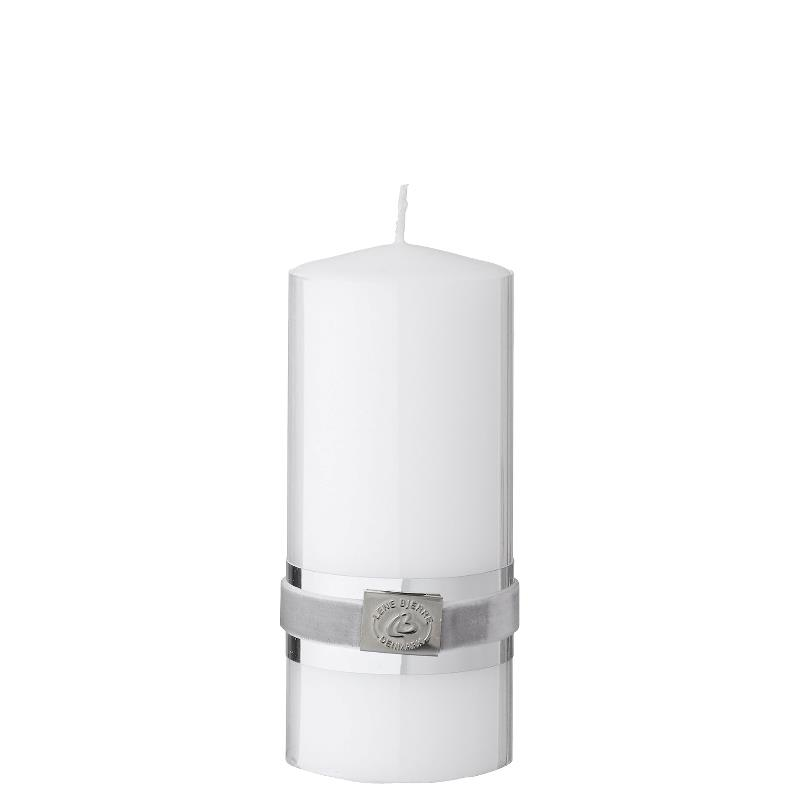LENE BJERRE - Basic Pillar Candle 14 CM, White