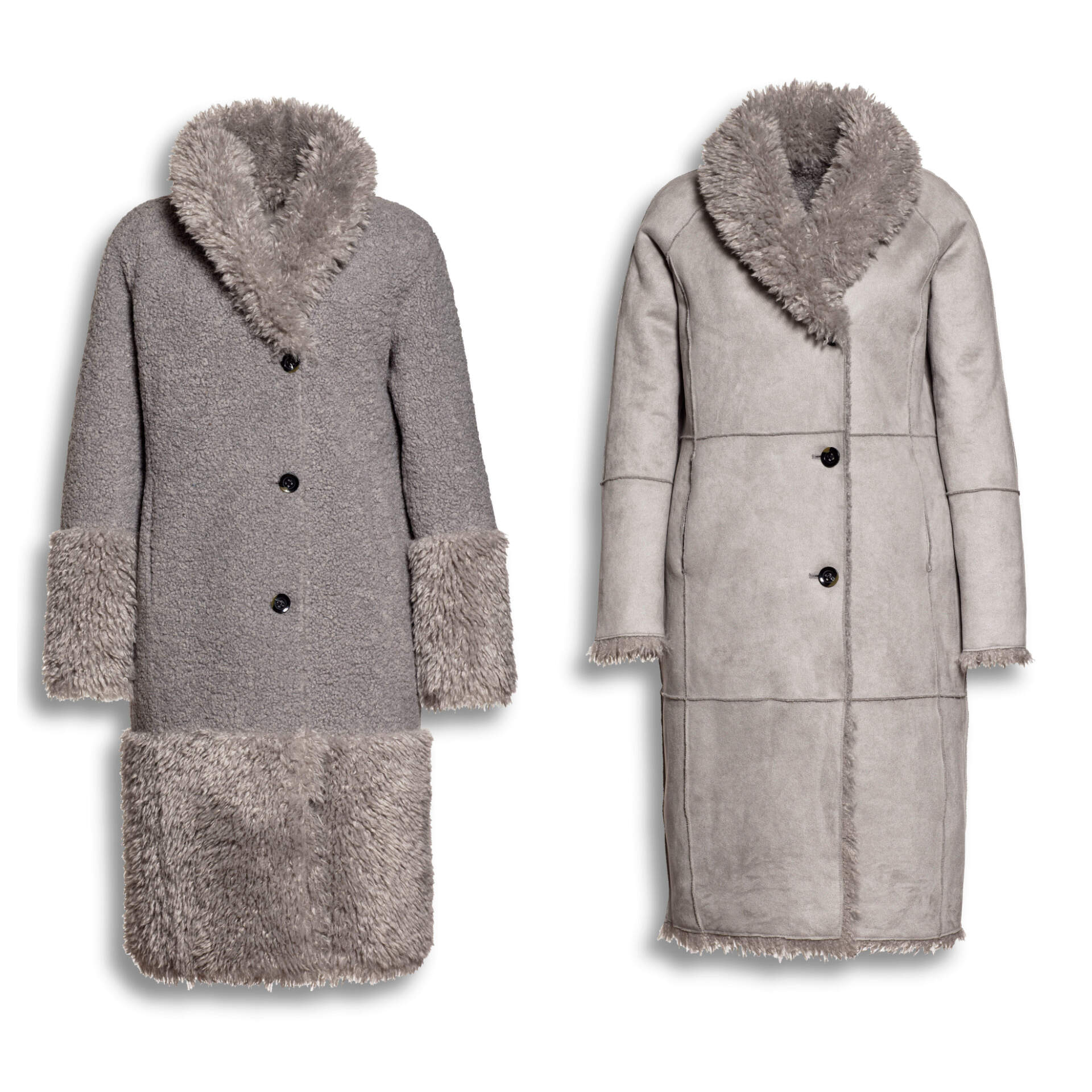 BEAUMONT Mix Lammy Coat Mid Grey