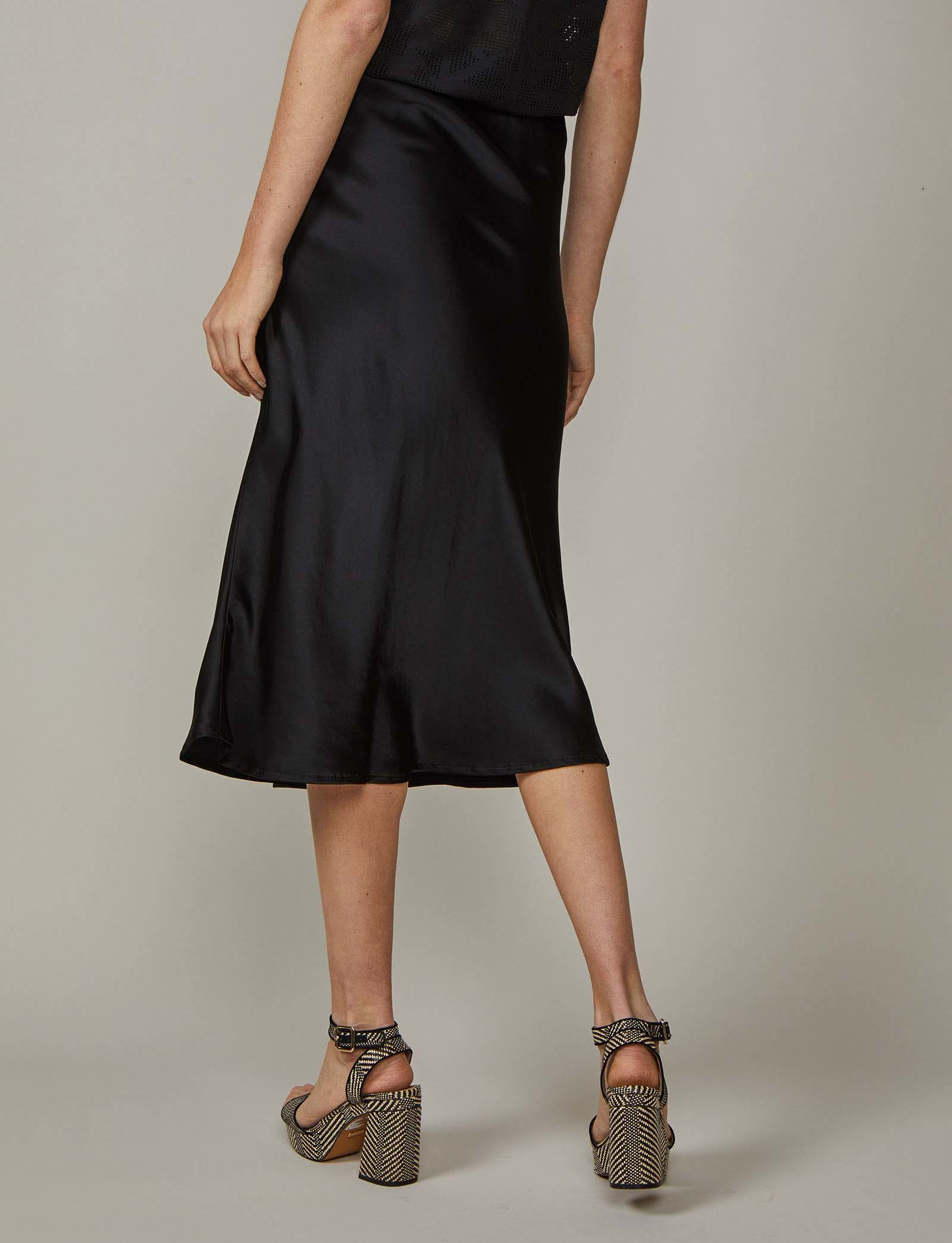 Summum Woman Skirt Satin Viscose Black