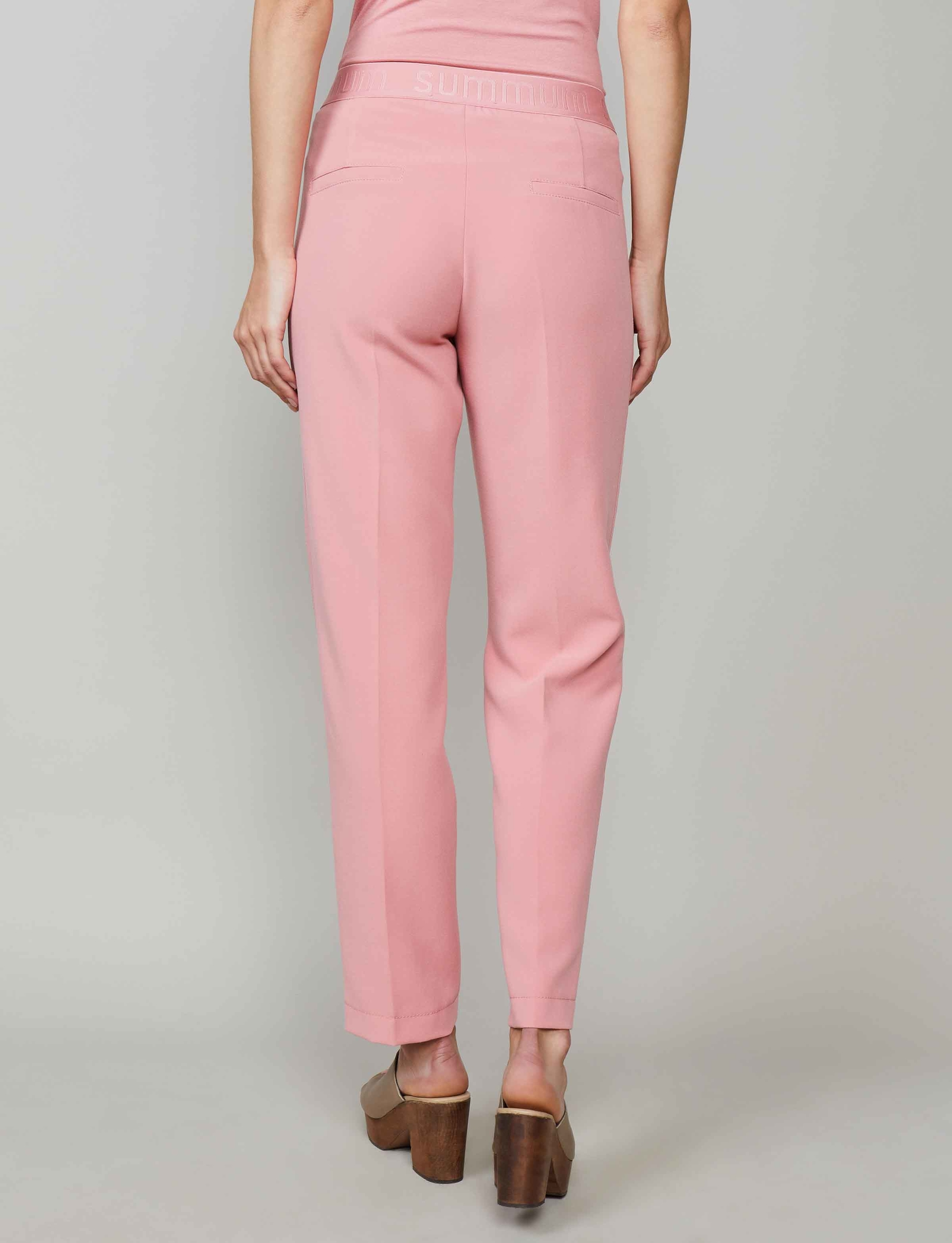 Summum Woman Trousers Structured Stretch, Blossom Pink