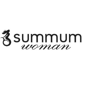 Summum Woman Top v-neck Border Print Multicolour
