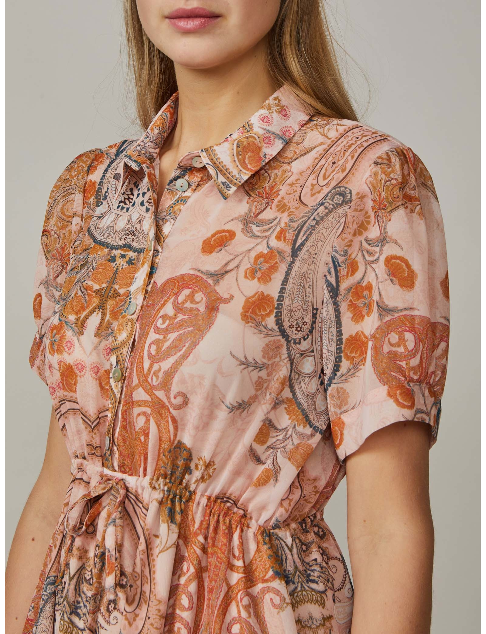 Summum Woman Dress Paisley Powder Pink