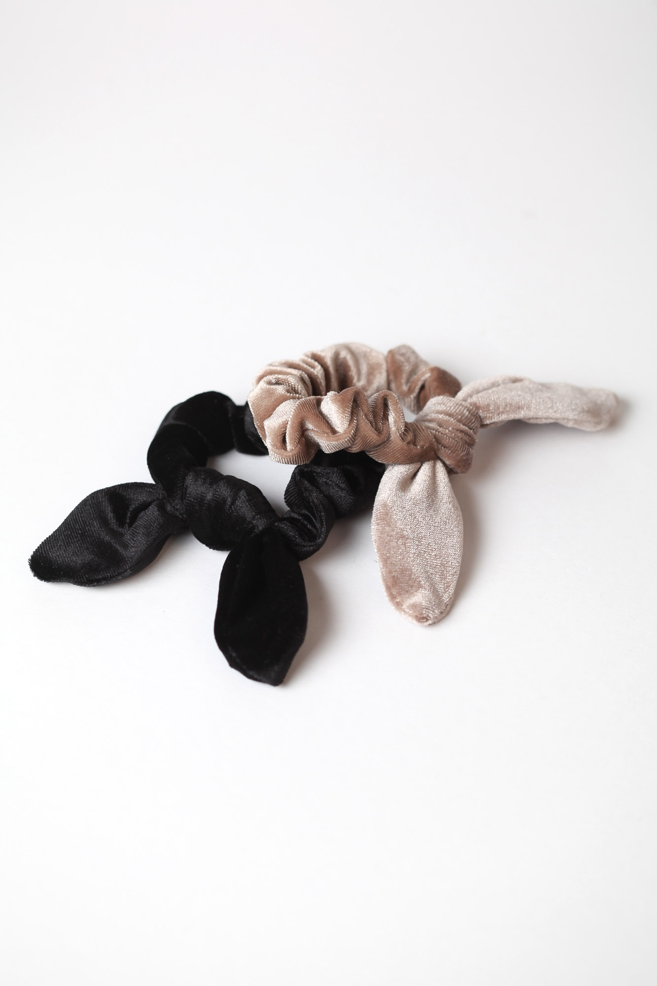 GAUHAR HELSINKI - HAIR BOW TIE SET BLACK&BEIGE