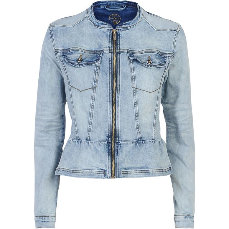 Summum Woman Denim Jacket Vintage Blue Denim