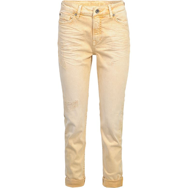 Summum Woman Trousers Coloured Stone Wash Pastelochre