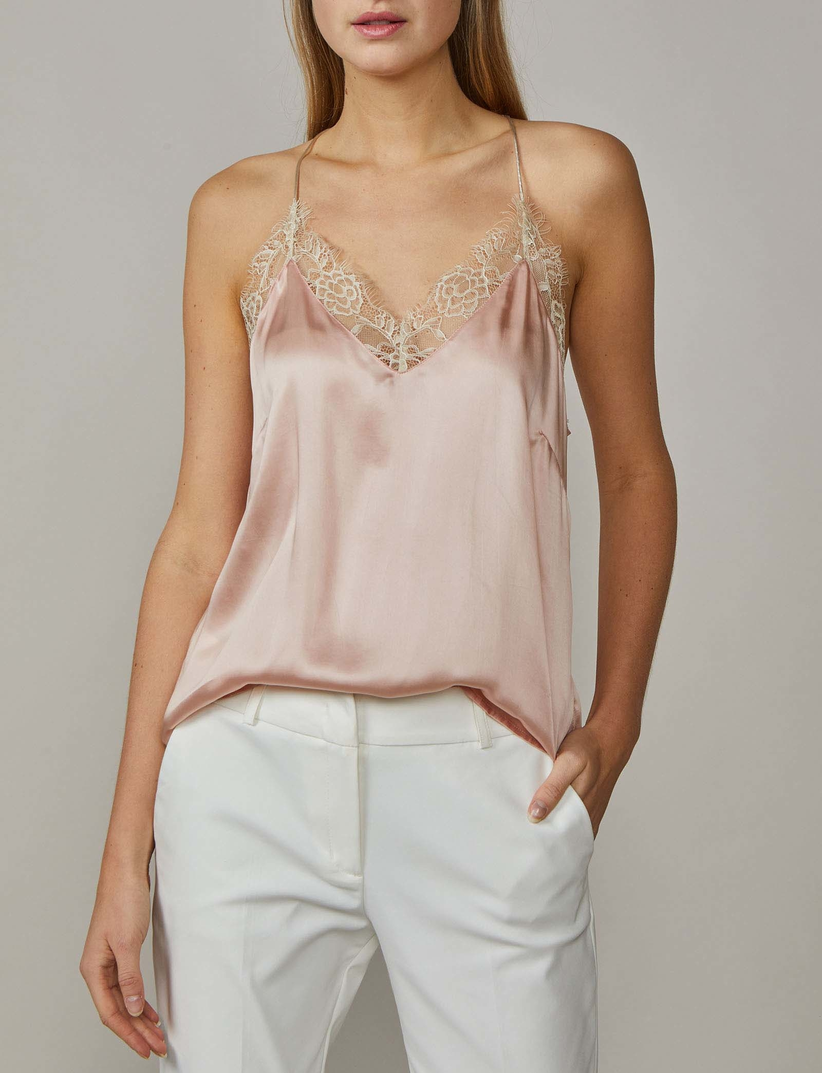 Summum Woman Lace Singlet Powder Pink