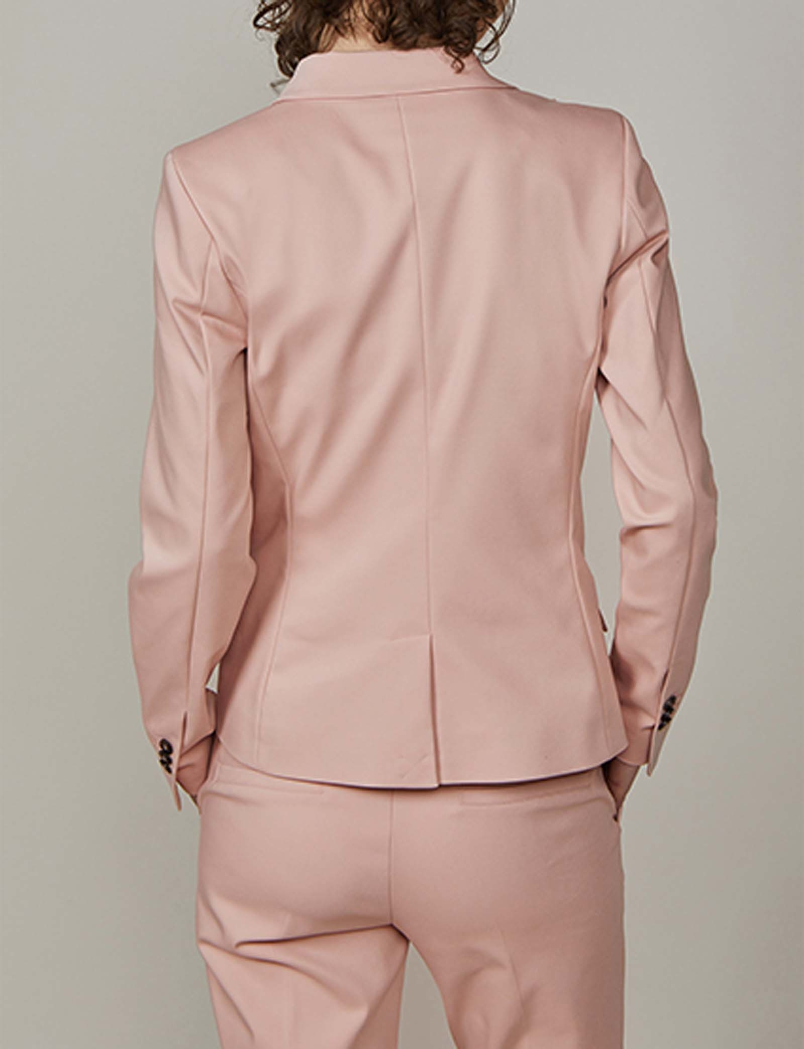 Summum Woman Fitted Blazer Classic Stretch Powder Pink