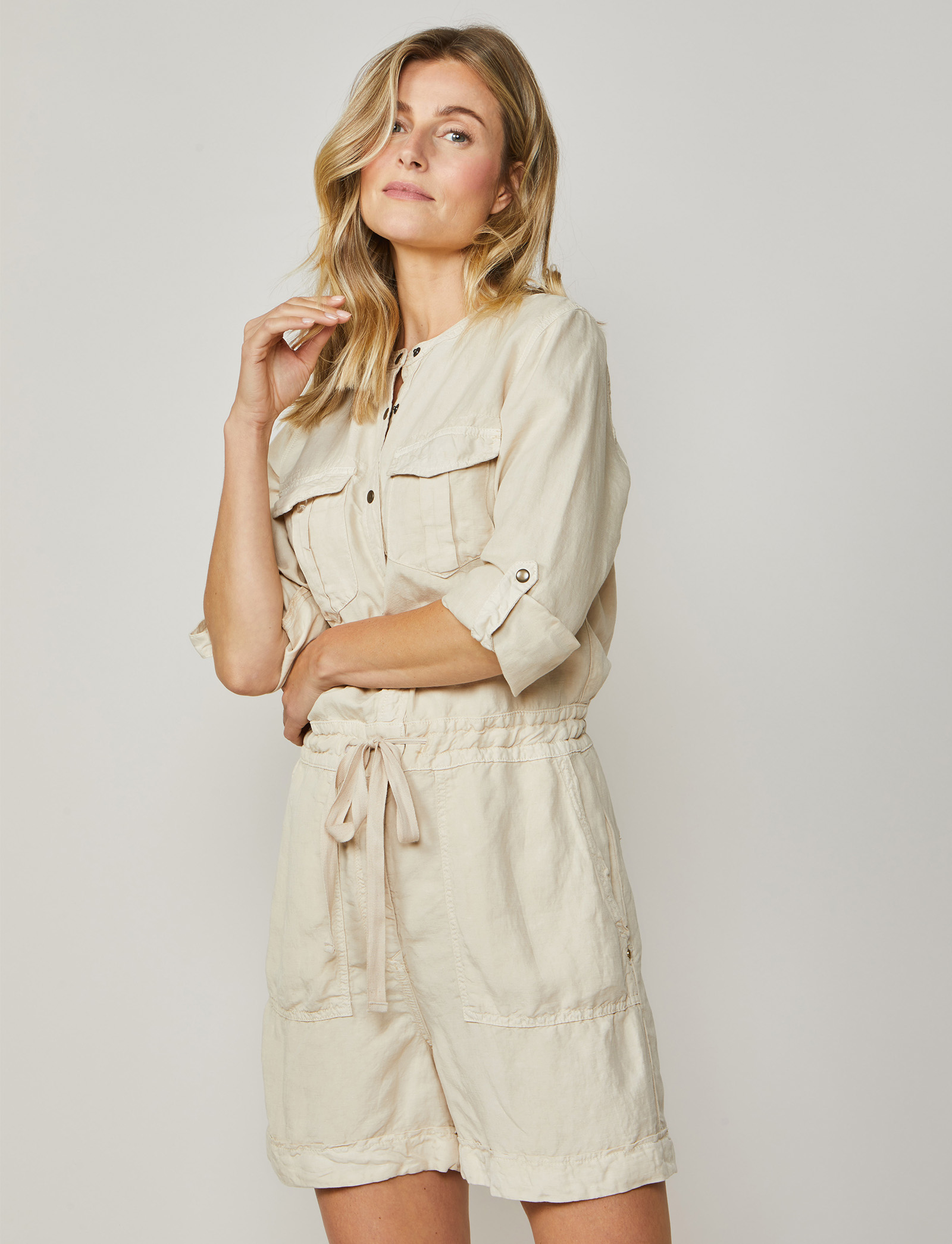 Summum Woman Jumpsuit Short Flowy Sahara Dust