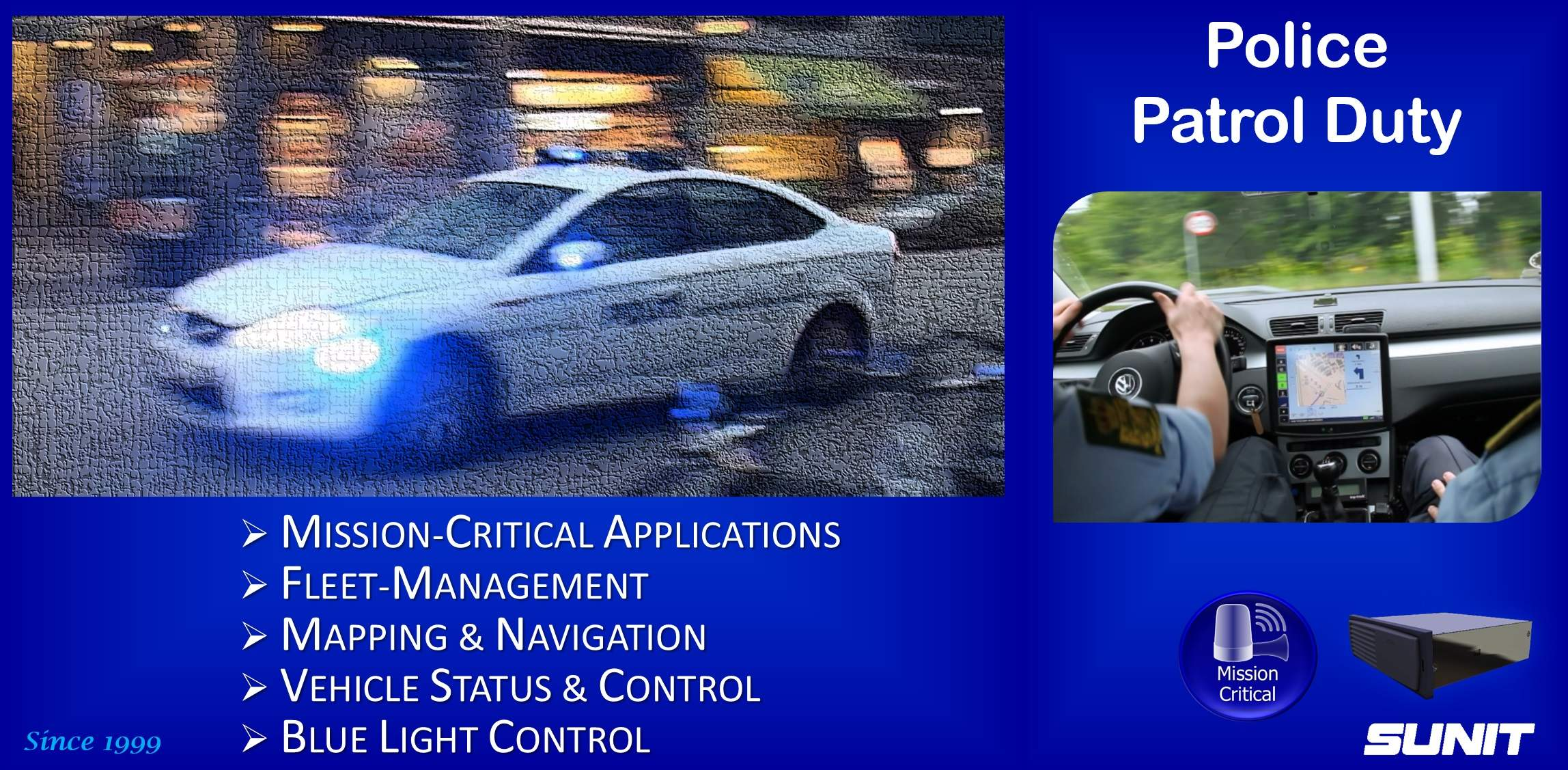 Sunit Police patrol car-computing