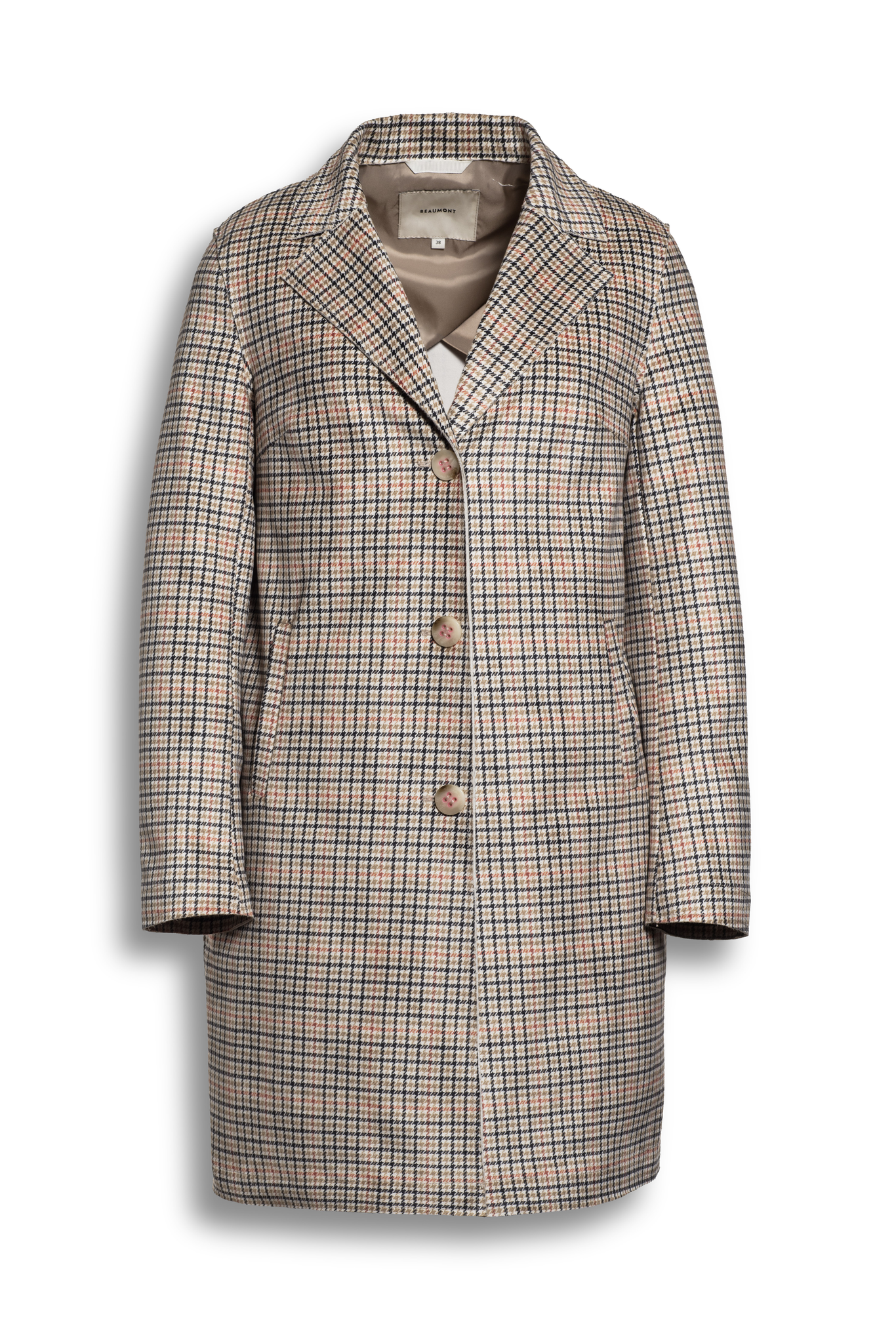 BEAUMONT Chequered Blazercoat Multicolour