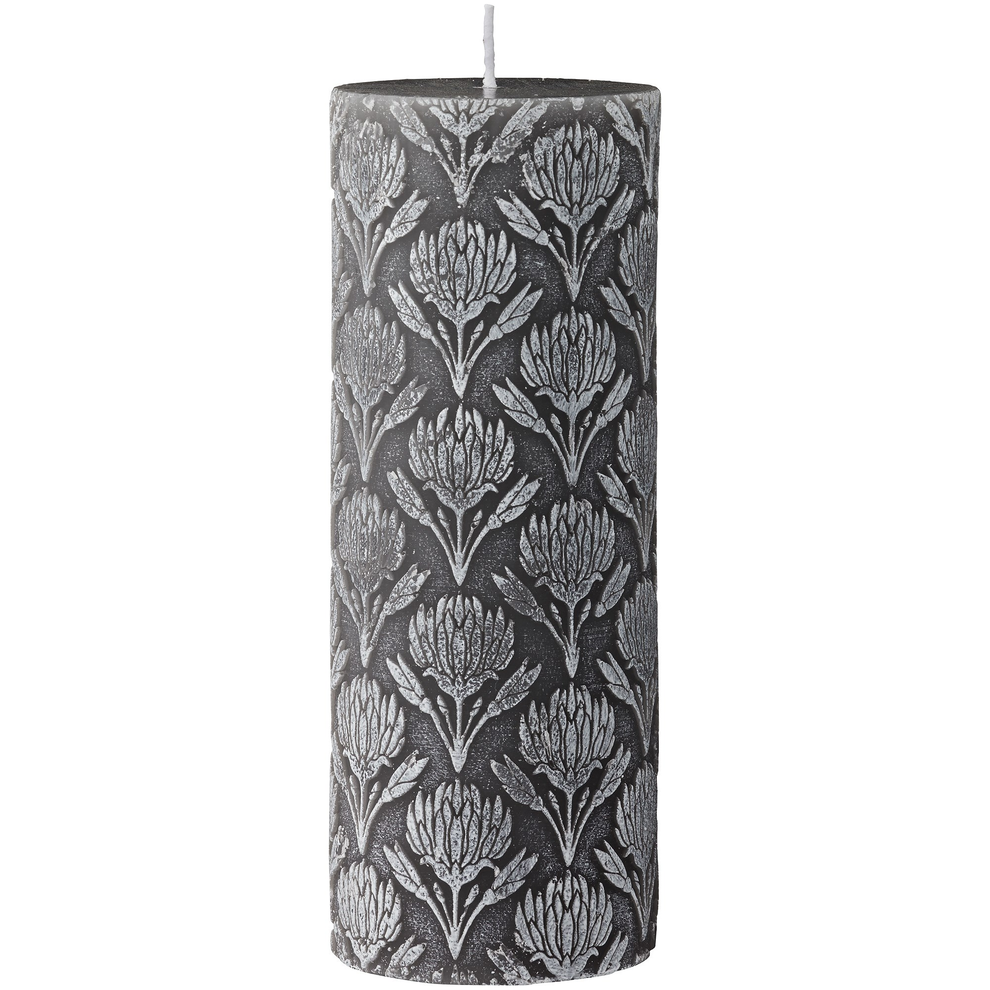 LENE BJERRE - Gillia Pillar Candle, Monument Grey