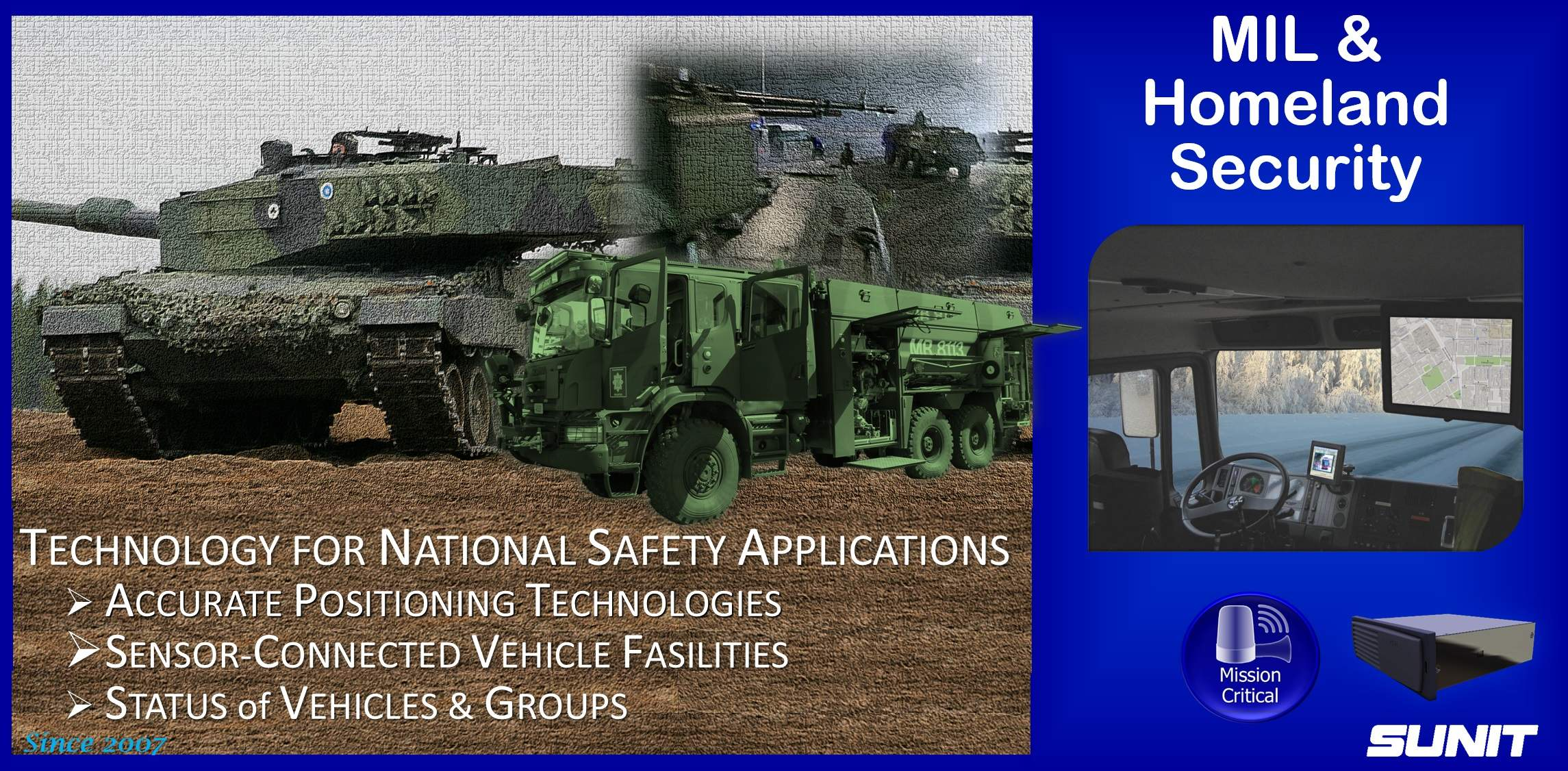 Sunit Military and  Homeland Security computing
