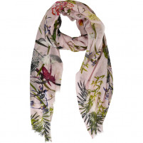 BELLA BALLOU ASIAN GARDEN Cotton/Modal Scarf, Soft Pink