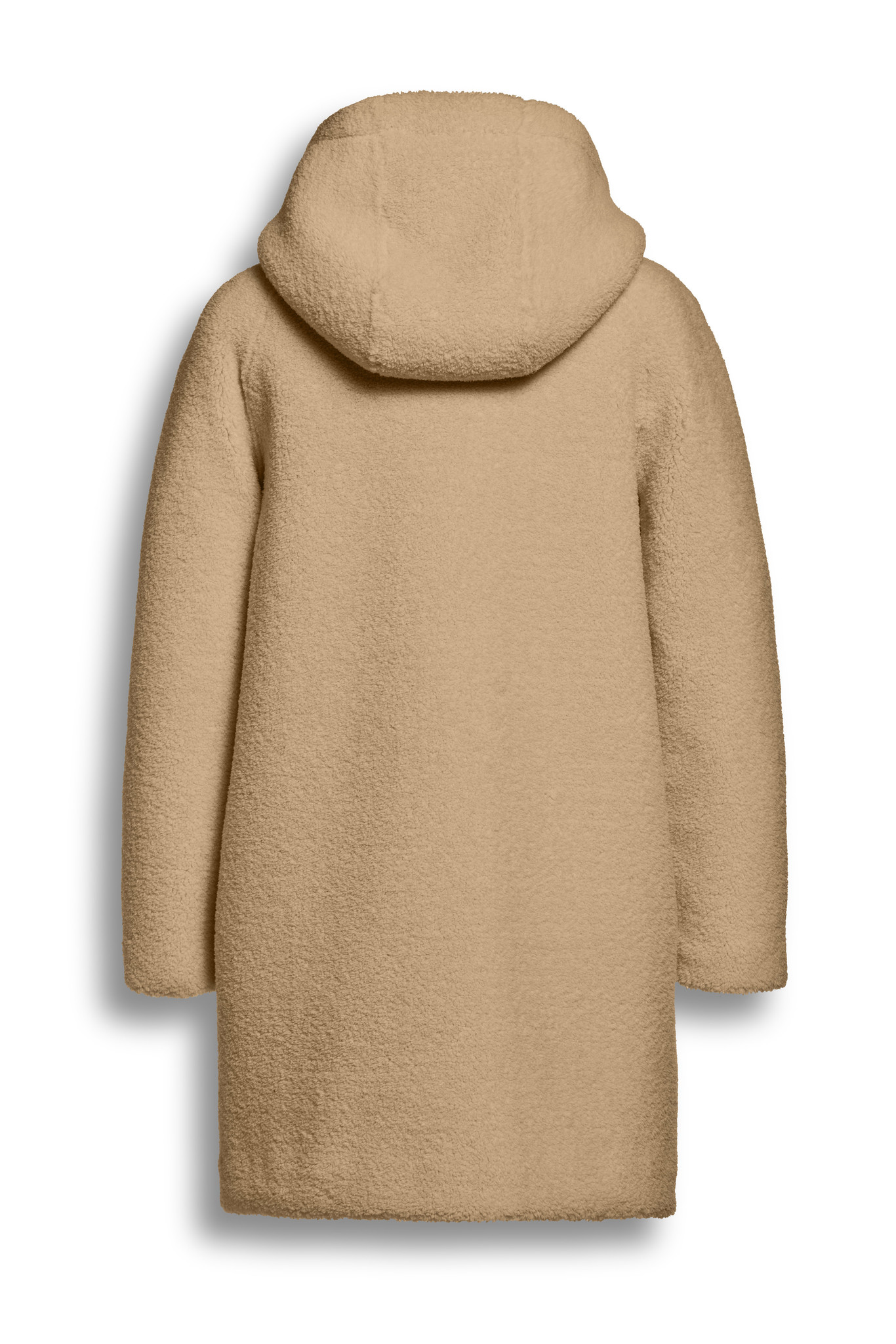 BEAUMONT Teddy Hooded Coat Sand
