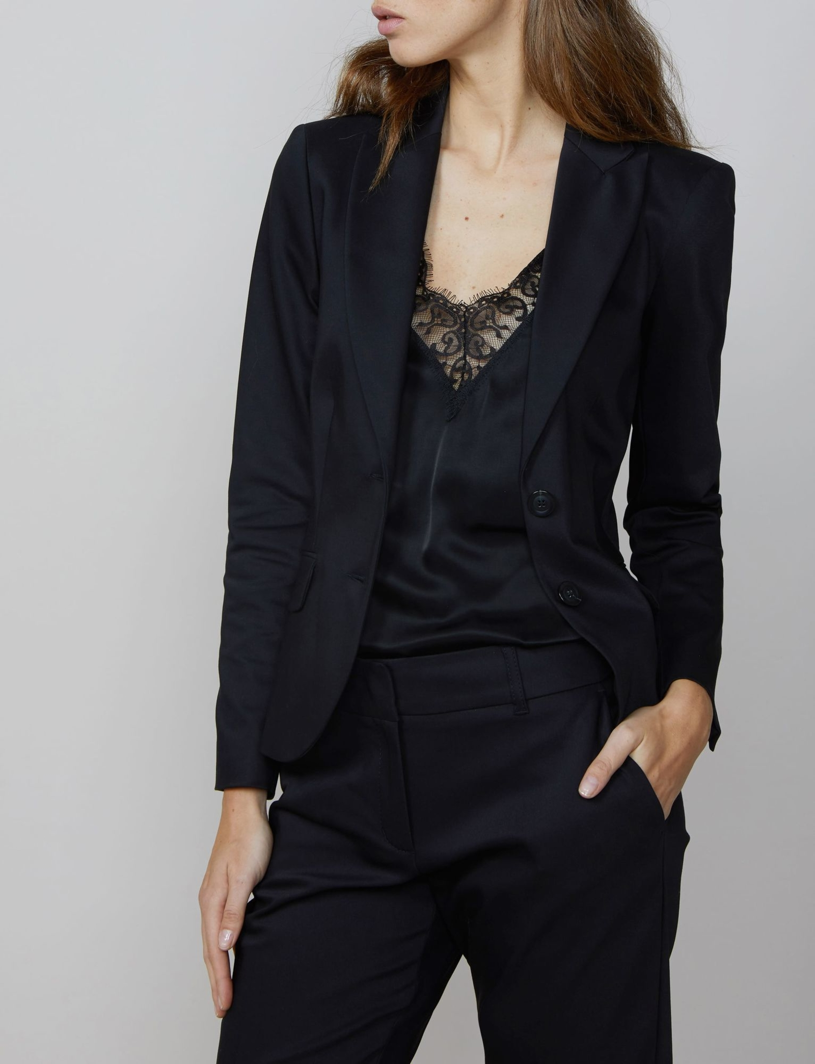 Summum Woman Blazer Classic Stretch Black