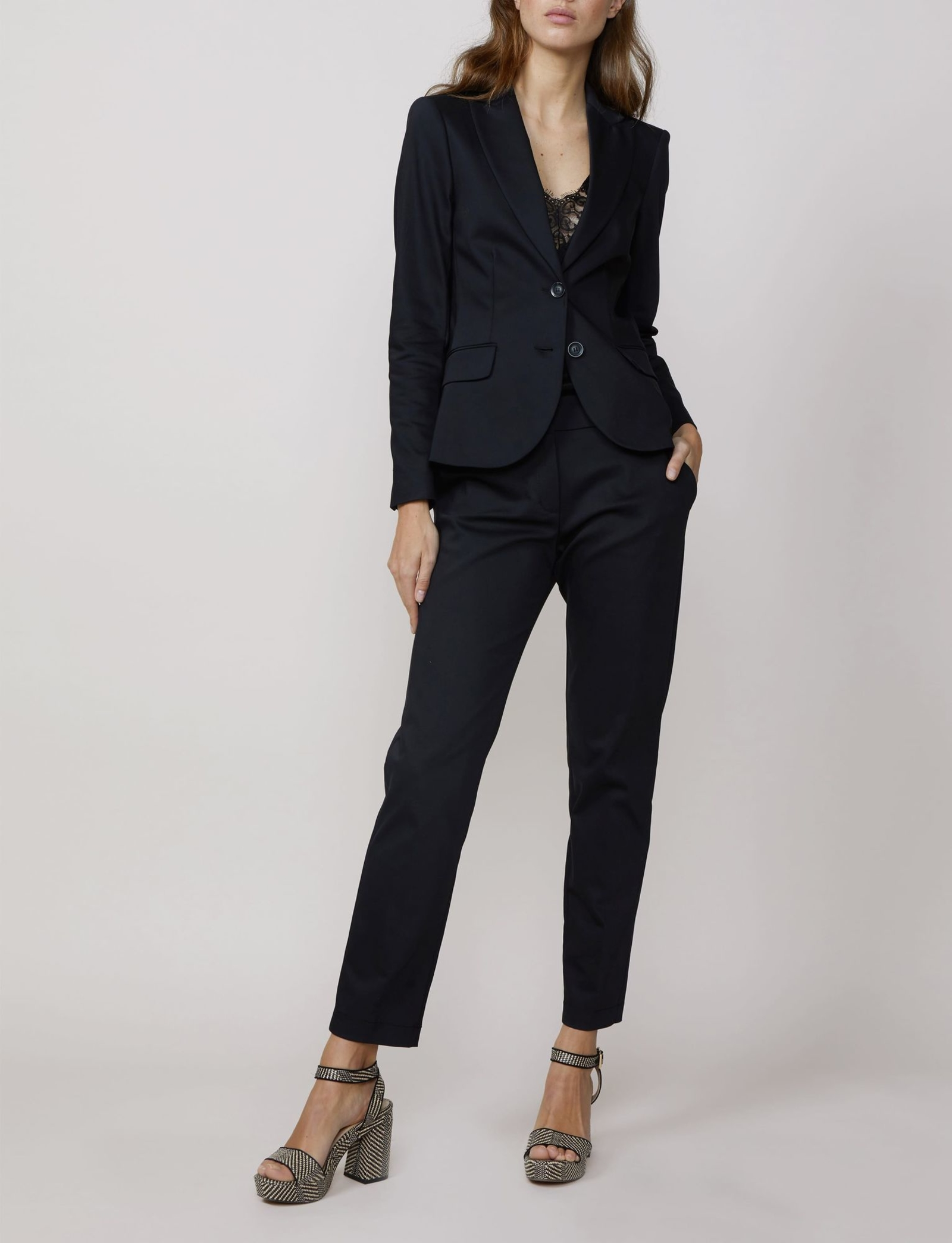 Summum Woman Trousers Classic Stretch Black
