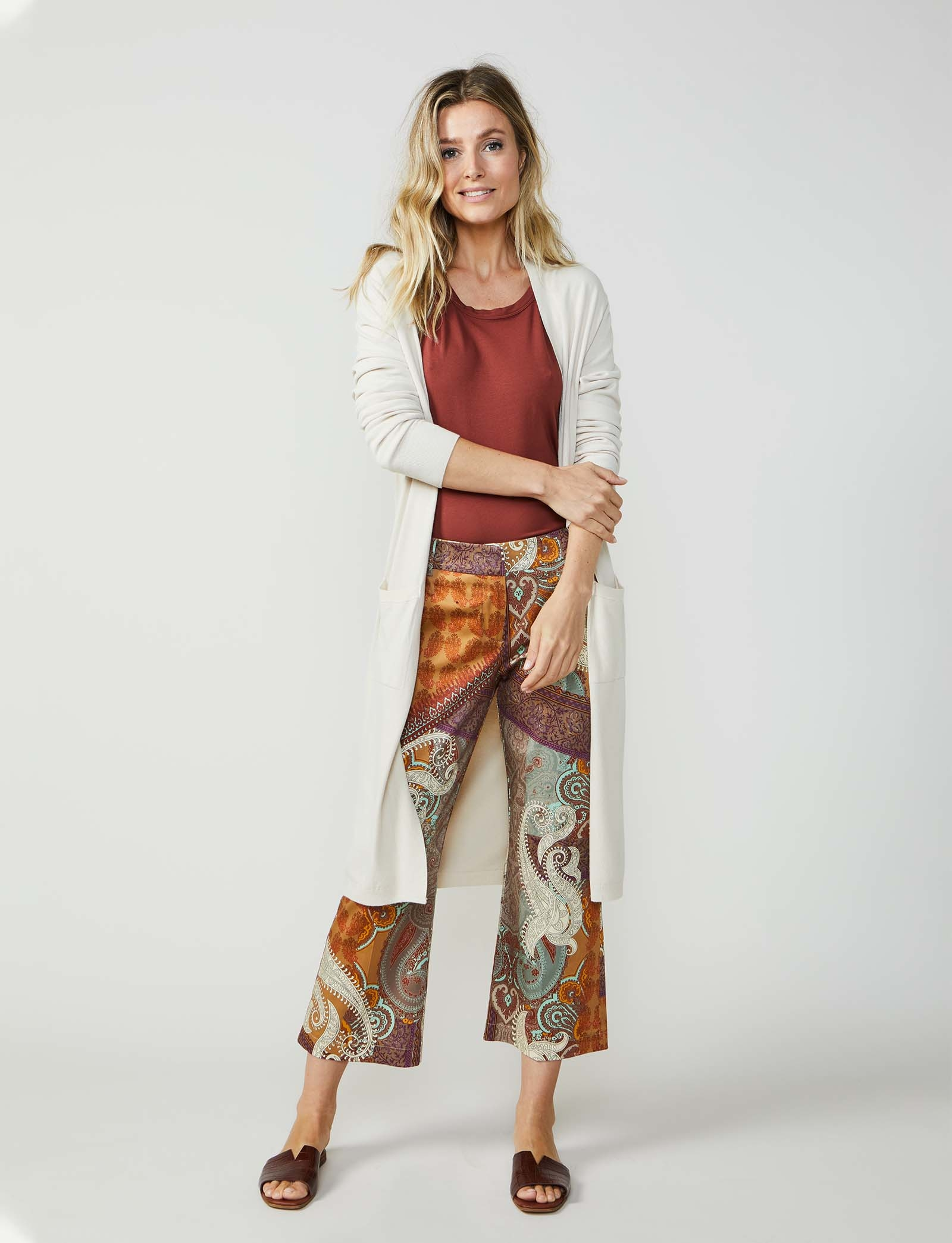 Summum Woman Long Cardigan Sahara Dust