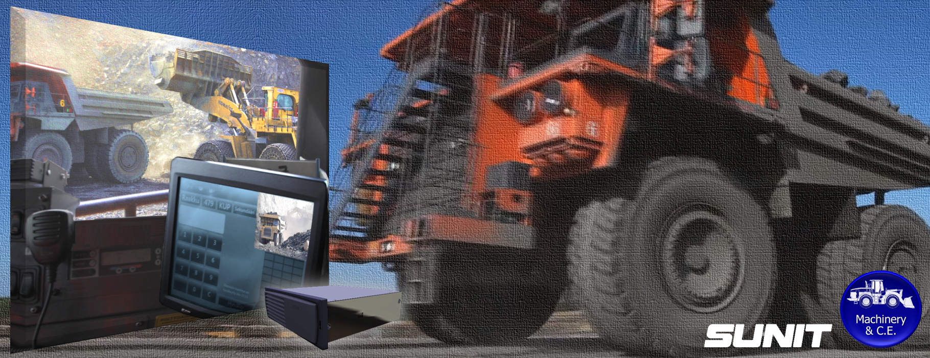 SUNIT Computer for Mining, Heavy Tractors, Excavator, Off-Road
