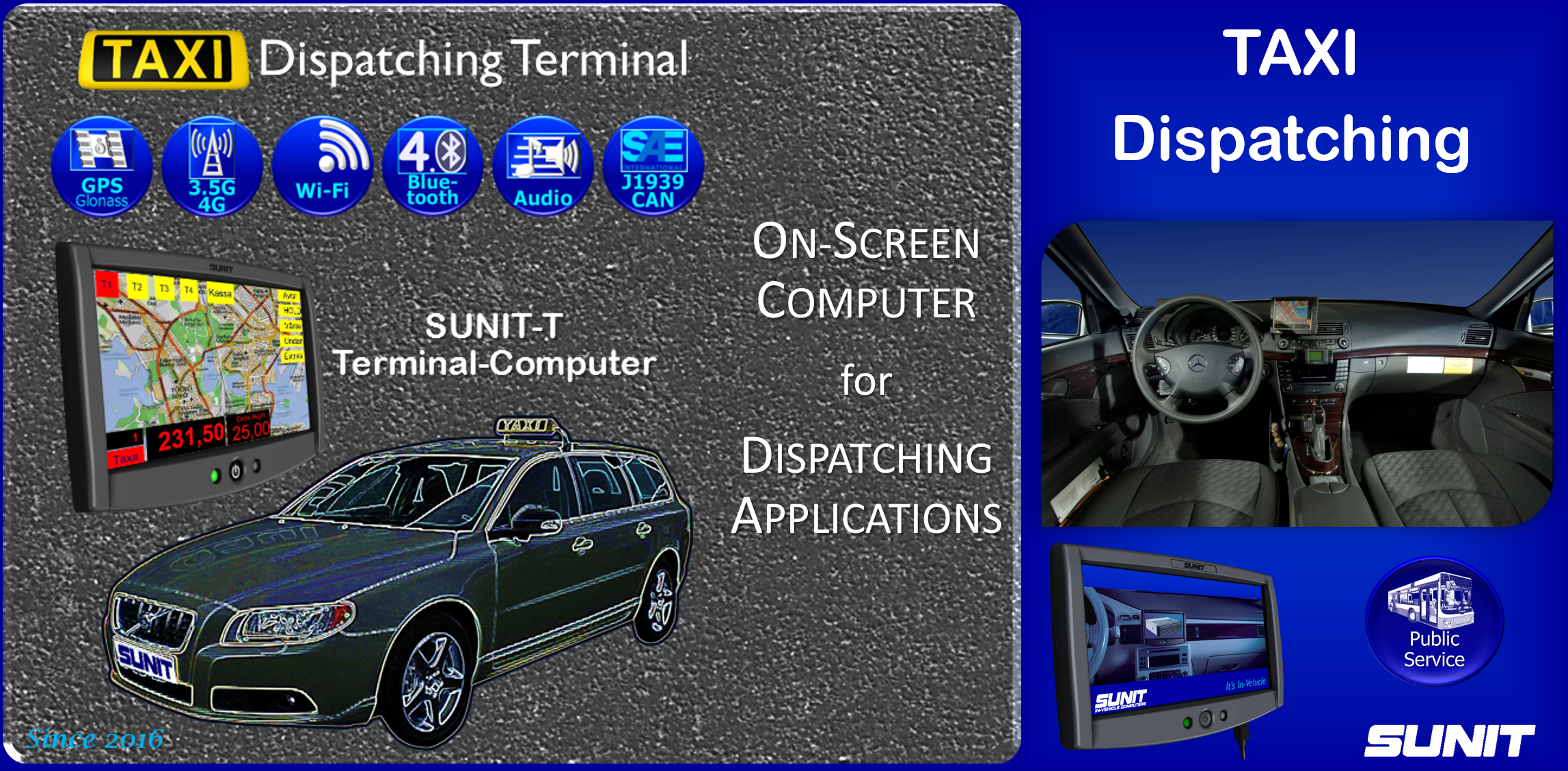 SUNIT Panel-PC for Taxi Dispatching
